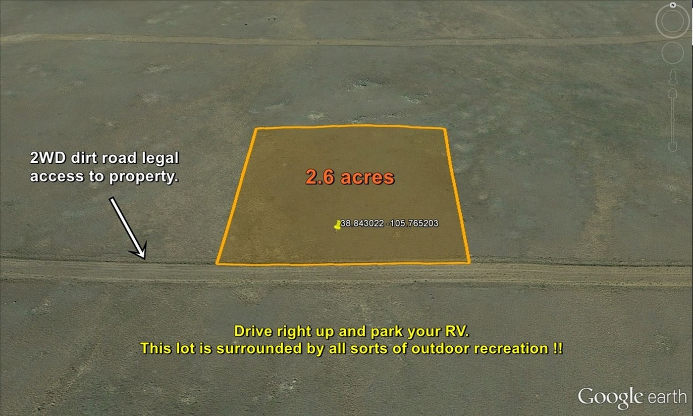 2.6 acre Cheap RV Lot in Central Colorado