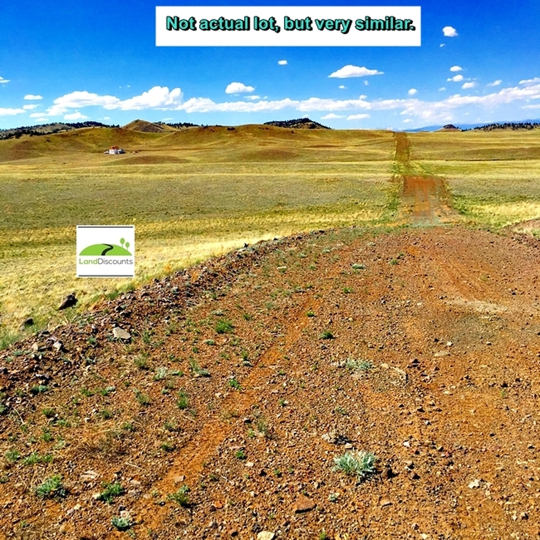 Dirt road to Tiny House Lot in Park County, CO property