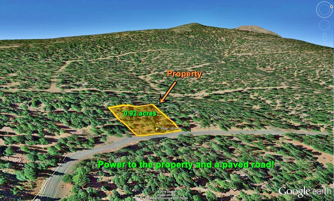 Modoc County, Caifornia Pines lot with power for sale