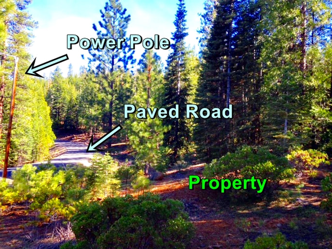 Northern California property for sale with power