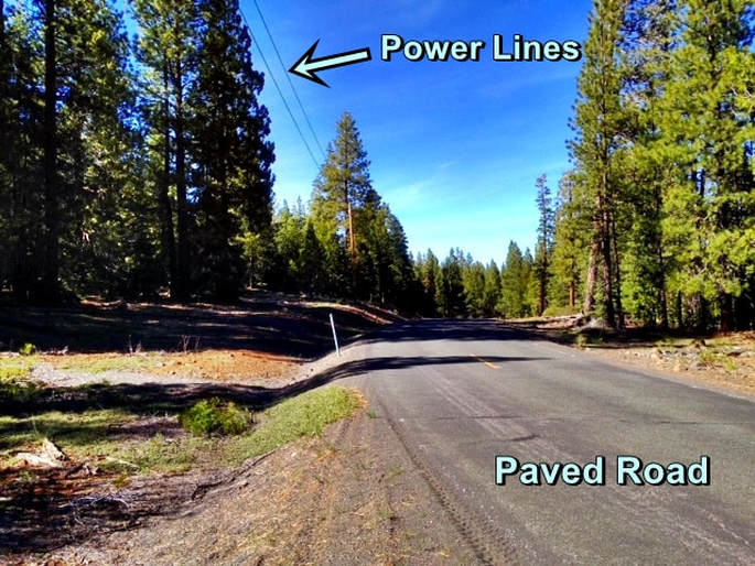 California Pines lot with power for sale